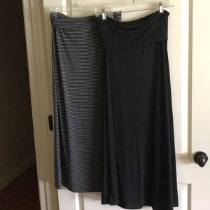 Long stretch skirts